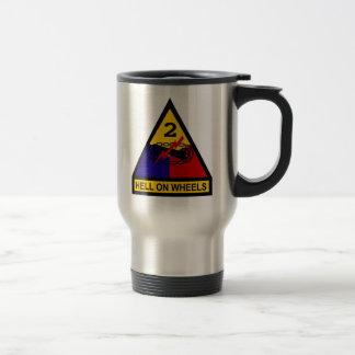 2nd AD Class A Shoulder Patch Travel Mug