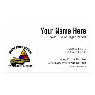 2nd AD Desert Storm Vet Double-Sided Standard Business Cards (Pack Of 100)