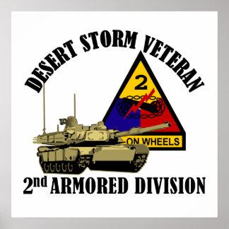 2nd AD Desert Storm Vet Posters