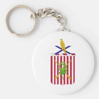 2nd Air Defense Artillery Regimental Coat of Arms Basic Round Button Keychain