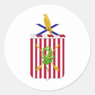 2nd Air Defense Artillery Regimental Coat of Arms Round Sticker