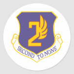 2nd Air Force Round Stickers