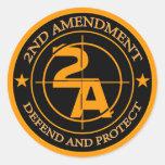 2nd Amendment 3 Round Stickers