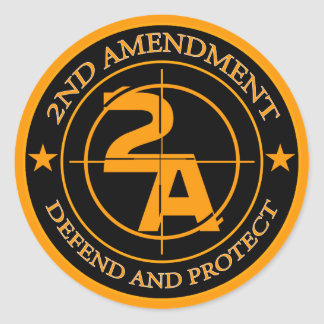 2nd Amendment 3 Classic Round Sticker