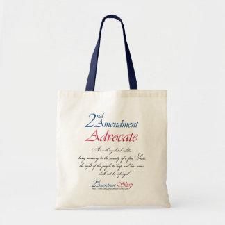 2nd Amendment Advocate totes Tote Bags