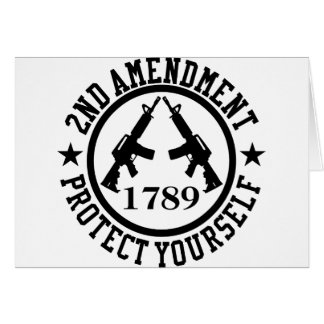 2nd Amendment AR15 Protect Yourself Black Greeting Card