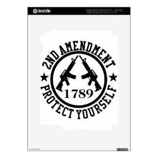 2nd Amendment AR15 Protect Yourself Black iPad 3 Skins