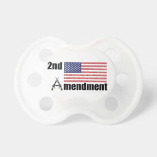 2nd Amendment AR Rifles A and Flag BooginHead Pacifier