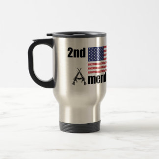 2nd Amendment AR Rifles A and Flag Mugs