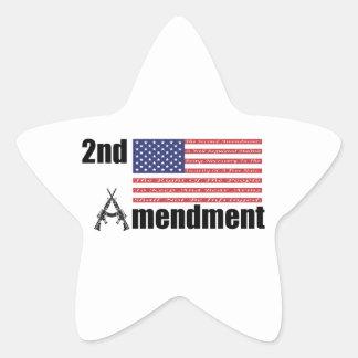 2nd Amendment AR Rifles A and Flag Star Sticker