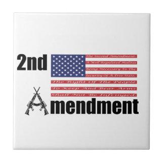 2nd Amendment AR Rifles A and Flag Tile