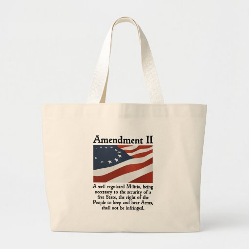 2nd Amendment Canvas Bags