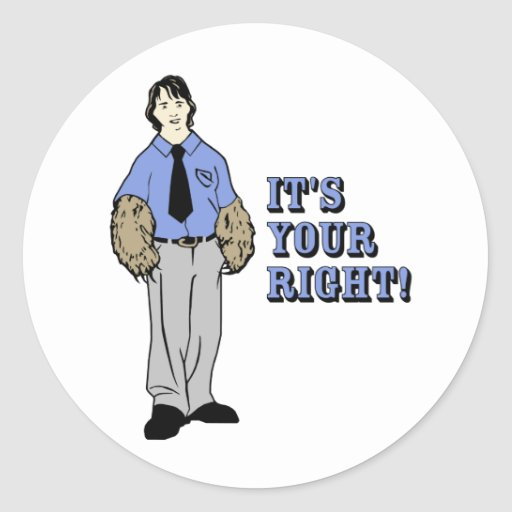 2nd Amendment Bear Arms Classic Round Sticker