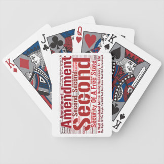 2nd Amendment Bicycle Playing Cards