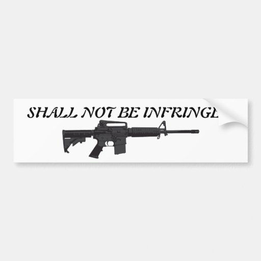 2nd Amendment Bumper Sticker - AR-15