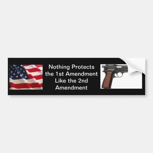 2nd Amendment Bumper Sticker (Black) Car Bumper Sticker