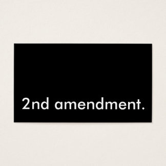 2nd amendment. business card