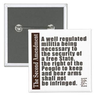 2nd Amendment Buttons