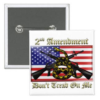2nd Amendment 2 Inch Square Button