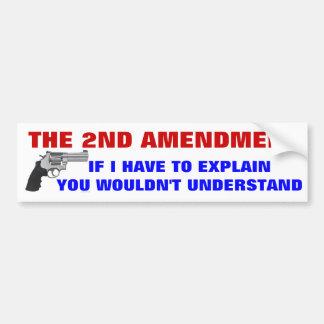 2nd Amendment Car Bumper Sticker