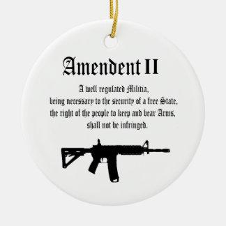 2nd Amendment Ceramic Ornament