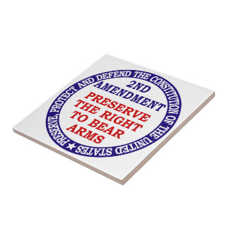 2nd Amendment Circle Keep & Bear Arms Ceramic Tile