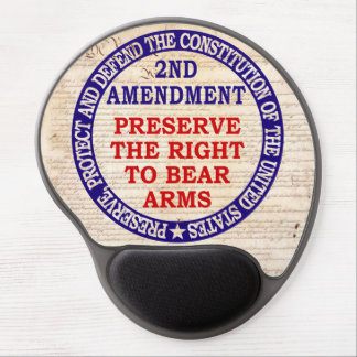 2nd Amendment Circle Keep & Bear Arms Gel Mouse Pad