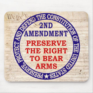 2nd Amendment Circle Keep & Bear Arms Mouse Pad