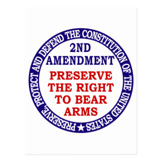 2nd Amendment Circle Keep & Bear Arms Postcard