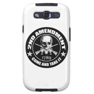 2nd Amendment Come And Take It Skull And AR's Galaxy S3 Case