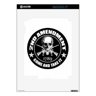 2nd Amendment Come And Take It Skull And AR's Decals For iPad 2