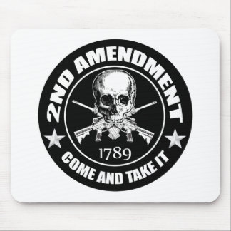 2nd Amendment Come And Take It Skull And AR's Mouse Pads