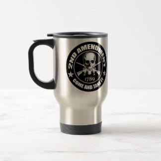 2nd Amendment Come And Take It Skull And AR's 15 Oz Stainless Steel Travel Mug