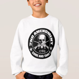 2nd Amendment Come And Take It Skull And AR's Sweatshirt
