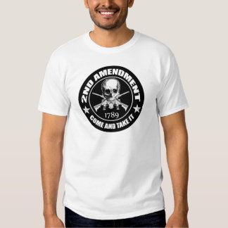 2nd Amendment Come And Take It Skull And AR's Tee Shirt