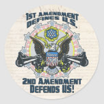 2nd Amendment Defends  Gun-Toting Eagle Gear Stickers