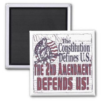 2nd Amendment Defends US 2 Inch Square Magnet