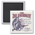 2nd Amendment Defends Us Shirts and Gifts Magnet