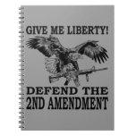 2nd Amendment Eagle Spiral Note Book