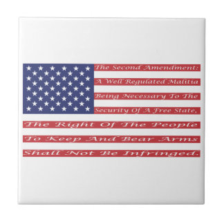 2nd Amendment Flag Ceramic Tile