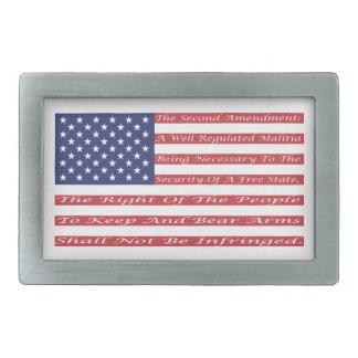 2nd Amendment Flag Rectangular Belt Buckle