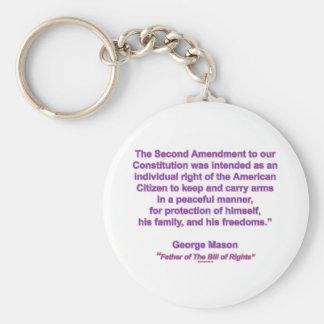 2nd Amendment - George Mason Keychain
