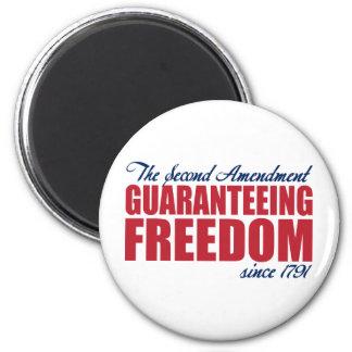 2nd Amendment - Guaranteeing Freedom Since 1791 Magnet