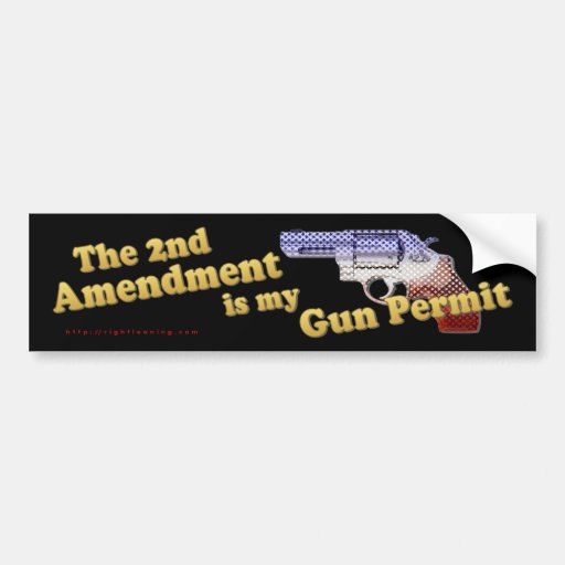 2nd Amendment Gun Permit Bumper Stickers