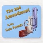 2nd amendment gun permit mouse pad