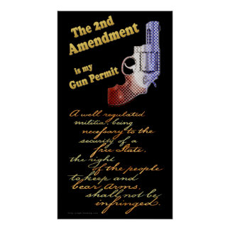 2nd amendment Gun Permit Poster