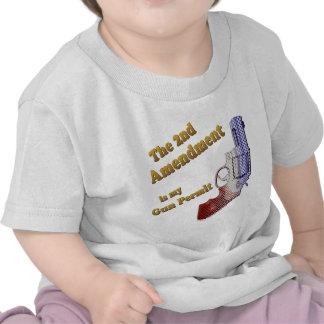 2nd amendment gun permit tshirts