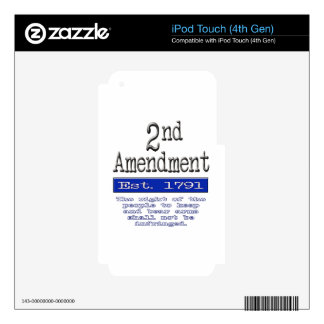2nd Amendment iPod Touch 4G Decal
