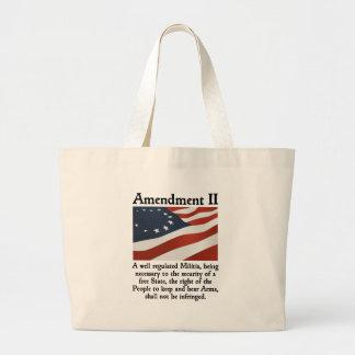 2nd Amendment Large Tote Bag