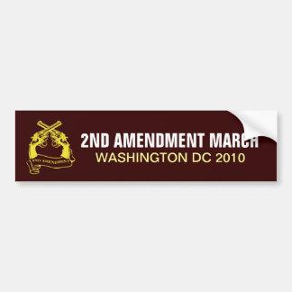 2ND AMENDMENT MARCH WASHINGTON DC 2010 BUMPER STICKER